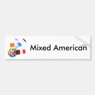 Vida americana mezclada pegatina para auto