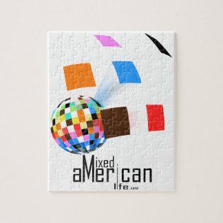Vida americana mezclada puzzle