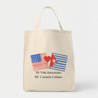 Vida americano, corazón cubano tote bag