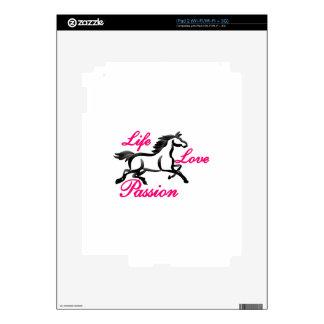Vida, amor, pasión calcomanías para el iPad 2