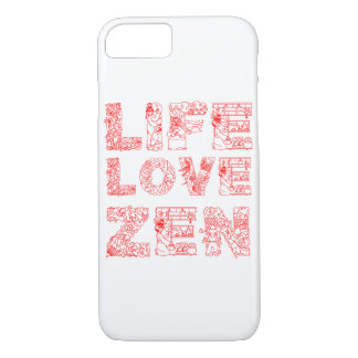 Vida, amor, zen funda iPhone 7