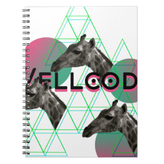 Vida animal de la jirafa salvaje de la ropa de notebook
