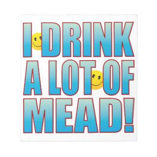 Vida B de la aguamiel de la bebida Bloc De Notas