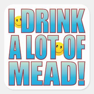 Vida B de la aguamiel de la bebida Pegatina Cuadrada