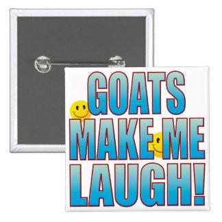 Vida B de la risa de las cabras Pin Cuadrado