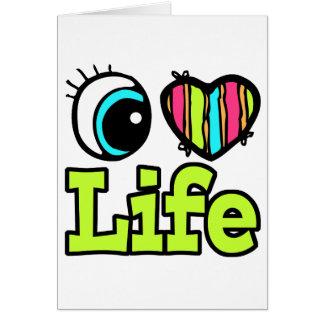 Vida brillante del amor del corazón I del ojo Tarjeta De Felicitación