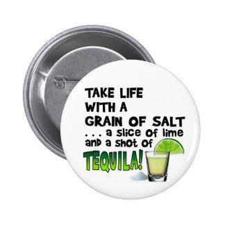 ¡Vida, cal, sal, TEQUILA! Humor del cóctel Pins