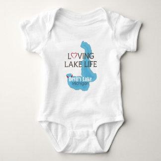Vida cariñosa del lago, el lago devil's, Michigan Body Para Bebé