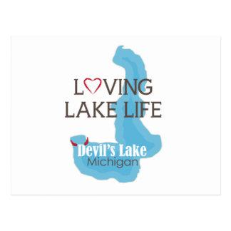 Vida cariñosa del lago, el lago devil's, Michigan Postales