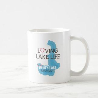 Vida cariñosa del lago, el lago devil's, Michigan Taza