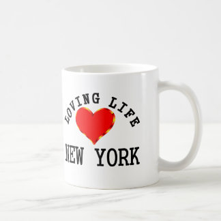 Vida cariñosa en Nueva York Taza De Café