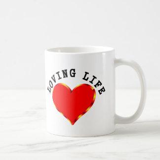 Vida cariñosa taza de café