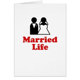 Vida casada tarjeta de felicitación