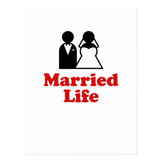 Vida casada tarjeta postal