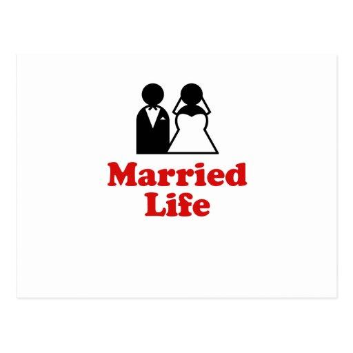 Vida casada tarjetas postales