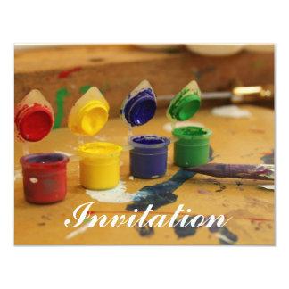 """Vida colorida invitación 4.25"""" x 5.5"""""""