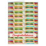 Vida colorida vibrante feliz de n - texto Editable Felicitaciones