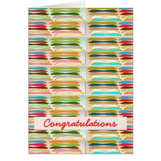 Vida colorida vibrante feliz de n - texto Editable Tarjeta De Felicitación