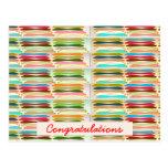 Vida colorida vibrante feliz de n - texto Editable Tarjeta Postal
