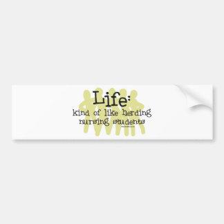 Vida - como la reunión de estudiantes del oficio d etiqueta de parachoque