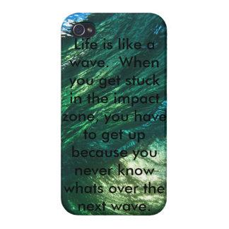 Vida como una onda iPhone 4 fundas