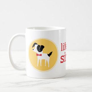 Vida con los perros, taza de café simplificada