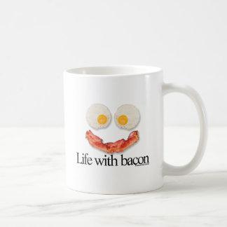 Vida con tocino tazas de café