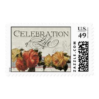 Vida coralina impresionista de la celebración del timbres postales