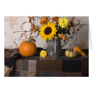 Vida de 4684 todavía otoños con la tarjeta de feli