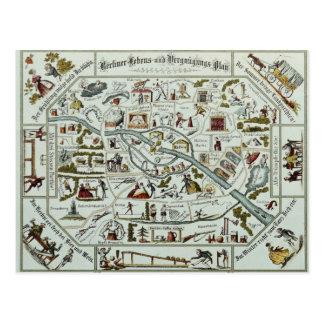 Vida de Berlín y plan de la diversión Postal