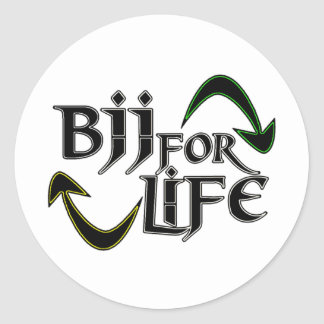 Vida de BJJ 4 Pegatina Redonda