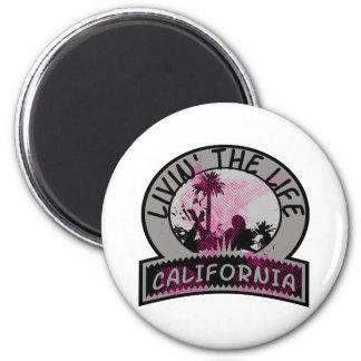 Vida de California Imán Redondo 5 Cm