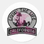 Vida de California Pegatina Redonda