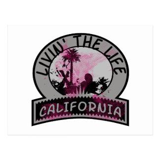 Vida de California Tarjeta Postal