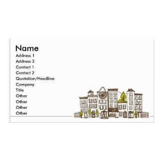 Vida de ciudad tarjetas de visita