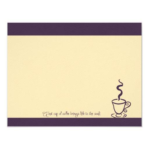 """Vida de color morado oscuro a las tarjetas de nota invitación 4.25"""" x 5.5"""""""
