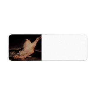 Vida de Francisco todavía Goya-, pavo desplumado,  Etiquetas De Remite