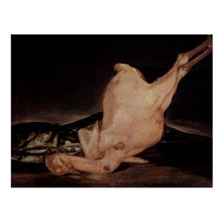 Vida de Francisco todavía Goya-, pavo desplumado,  Postales