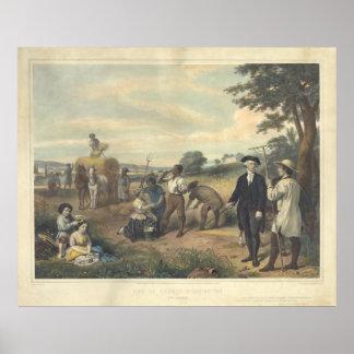 Vida de George Washington el granjero de J. Póster