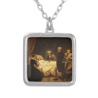 Vida de George Washington la muerte cristiana Collar Plateado