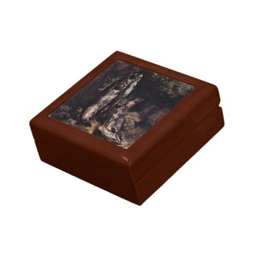 Vida de Gustavo todavía Courbet- con la trucha tre Caja De Regalo