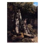 Vida de Gustavo todavía Courbet- con la trucha tre Tarjetas Postales
