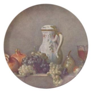 Vida de Jean todavía Chardin- con la tetera de la  Plato De Cena