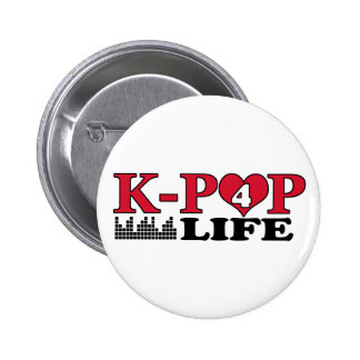 VIDA DE K-POP 4 PIN REDONDO DE 2 PULGADAS