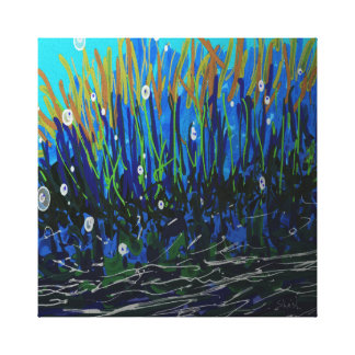 Vida de la aguamarina lona envuelta para galerias