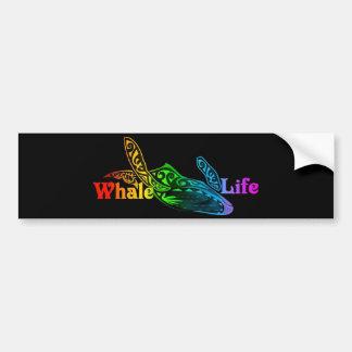Vida de la ballena pegatina para auto