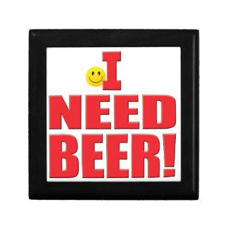 Vida de la cerveza de la necesidad cajas de joyas