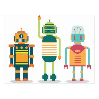 Vida de la diversión del niño del fiesta del robot tarjetas postales