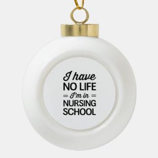 Vida de la escuela de enfermería adorno de cerámica en forma de bola