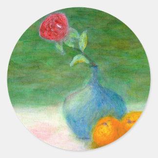 Vida de la flor y todavía de la fruta, pegatina